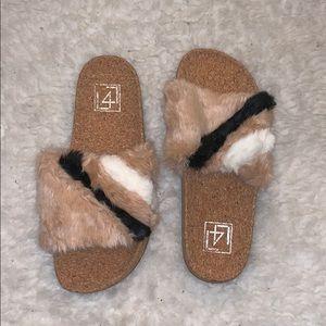 NEW Fur Slides